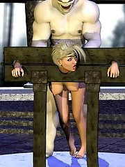 comely 3d blondie screwed by a horny demons